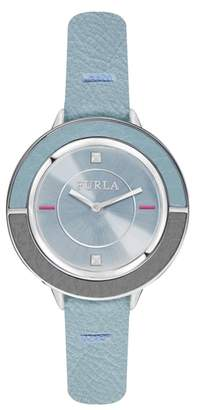 Furla Club Leather Strap Watch, 34mm