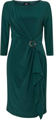 Wallis Green Ring Ruched Side Dress