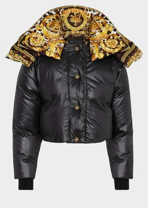 Versace Barocco Lined Puffer Jacket