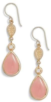 Anna Beck Guava Quartz & Moonstone Drop Earrings