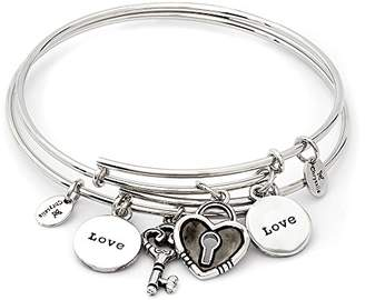 The One Chrysalis By Silver Willow Chrysalis, Set of two Rhodium plate Love expandable bangles. Keep one for yourself and share the other with who has a special place in your heart.