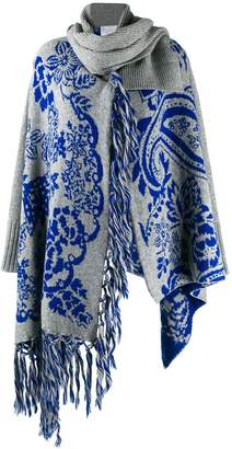 Sacai knit cardigan with scarf detail