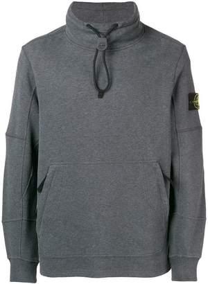 Stone Island toggle neck sweatshirt