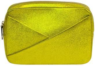 A.L.C. Gold Leather Clutch Bag