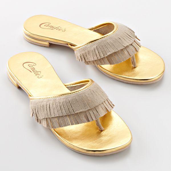 Candie's® Fringe Flip-Flops