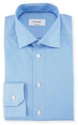 Eton Micro-Print Tiger Dress Shirt