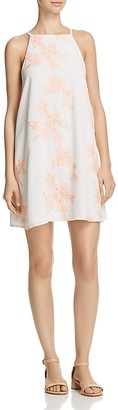 AQUA Embroidered A-Line Dress - 100% Exclusive $88 thestylecure.com