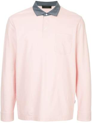 Durban D'urban contrast collar longsleeved polo shirt
