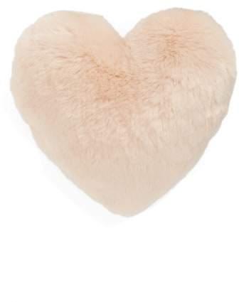 'Cuddle Up' Faux Fur Heart Accent Pillow