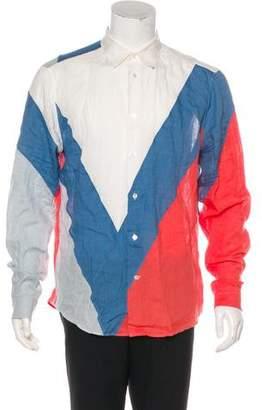 Louis Vuitton Linen Button-Up Shirt