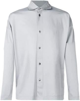 Issey Miyake Homme Plissé spread collar shirt