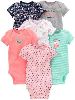 Carter's Simple Joys By Simple Joys by Baby Girls 6-Pack Short-Sleeve Bodysuit