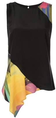 Nicole Miller abstract print blouse