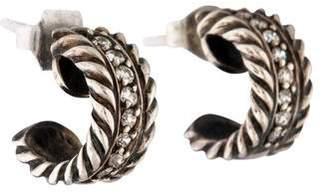 David Yurman Diamond Cable Classics Extra Small Earrings