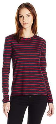 Pam & Gela Women's L/s Boatneck Tee with Laceup Back