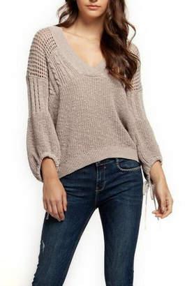 Dex Tie-Sleeve Knit Sweater