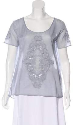 The Kooples Eyelet Embroidered Blouse