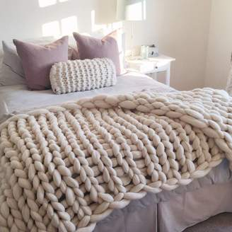 Lauren Aston Designs Woolacombe Super Chunky Hand Knitted Throw