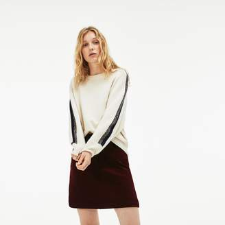 Lacoste Women's Ribbed Stretch Velour A-Line Skirt