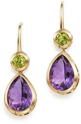 Bloomingdale's Amethyst and Peridot Drop Earrings in 14K Yellow Gold - 100% Exclusive
