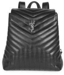 Saint Laurent Large Lou Lou Leather Backpack