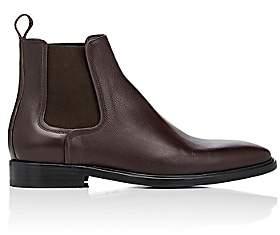 Lanvin Men's Grained Leather Chelsea Boots - Dk. brown