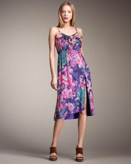 Alice + Olivia Mia Ruffle Floral-Print Dress