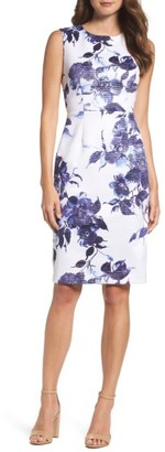 Women's Betsey Johnson Scuba Sheath Dress $138 thestylecure.com