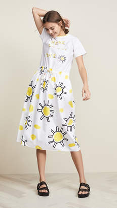 Mira Mikati Sunflower Print Dress