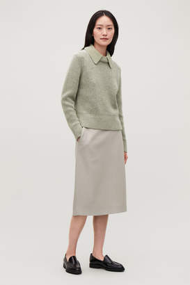 Cos KNITTED TOP WITH COLLAR