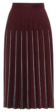 Bottega Veneta Pleated wool-blend midi skirt