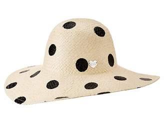 Betsey Johnson Polka Dot Floppy Hat