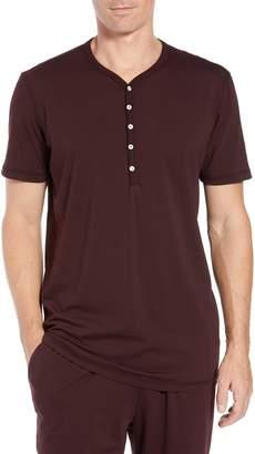 Daniel Buchler Stretch Cotton & Modal Short Sleeve Henley