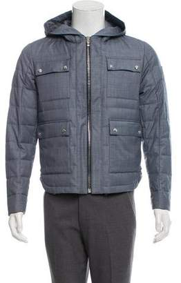Moncler Gamme Bleu Chambray Quilted Down Jacket