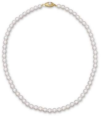 Bloomingdale's Cultured Akoya Pearl Necklace in 14K Yellow Gold, 18""