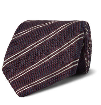 Tom Ford 8.5cm Striped Knitted Silk Tie
