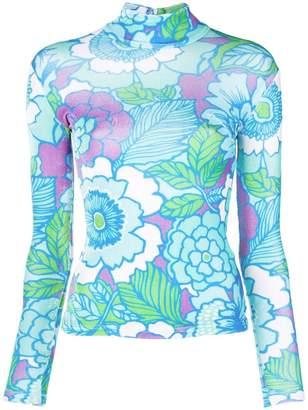 Richard Quinn floral print turtleneck jumper
