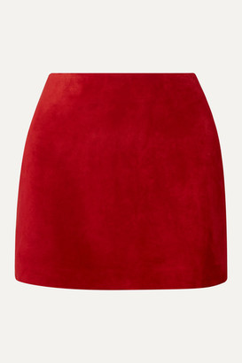 Saint Laurent Suede Mini Skirt - Claret