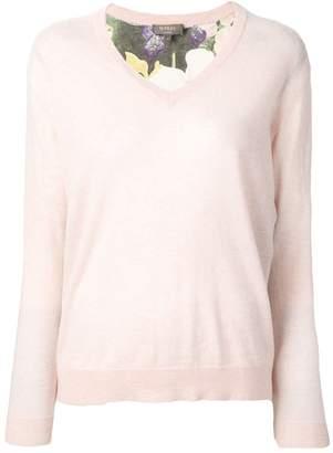 N.Peal Printed Back Sweater