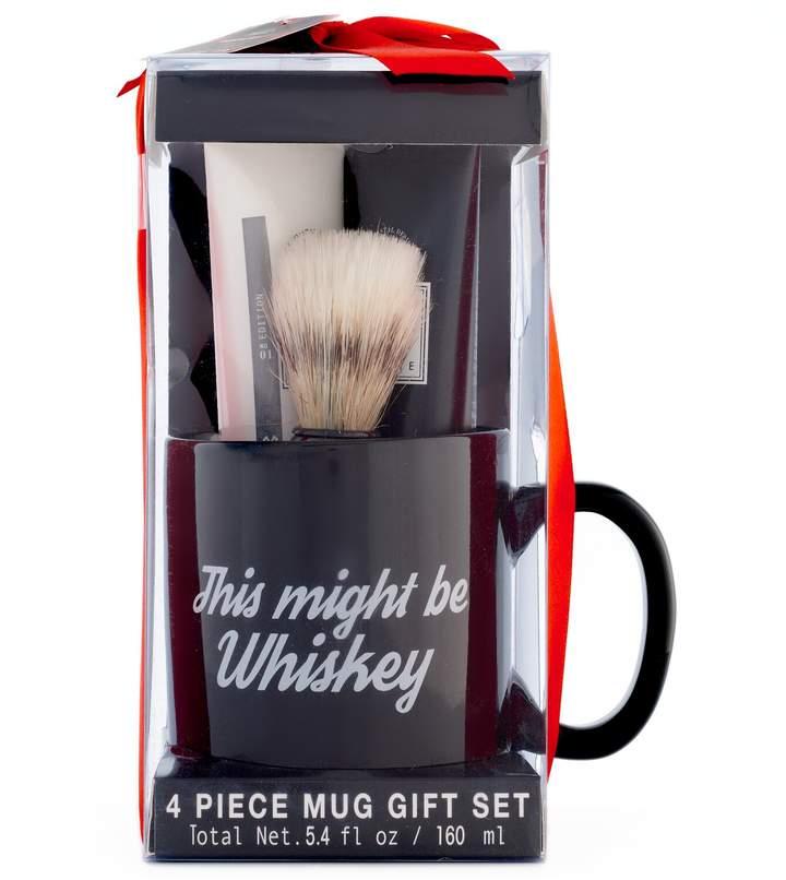 Tri Coastal Design Tri-Coastal Design Men's Milgau Black Ceramic Mug Shaving Set