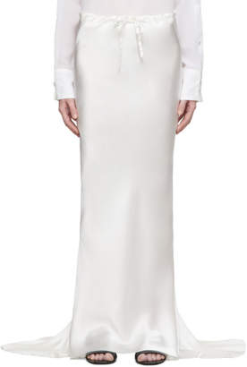 Ann Demeulemeester Off-White Silk Beverly Skirt