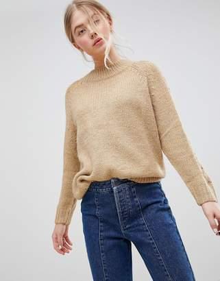 Blend of America JDY Ulrikke Cable Sleeve Alpaca Mohair Sweater