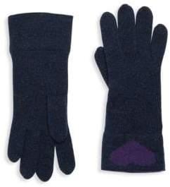 Portolano Heart Rabbit Hair Gloves