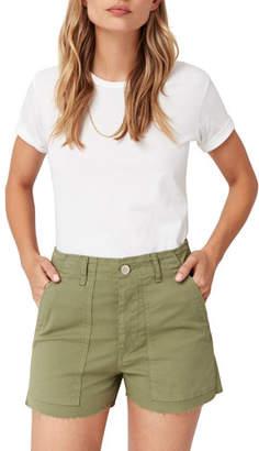 3x1 Simone Raw-Edge Shorts