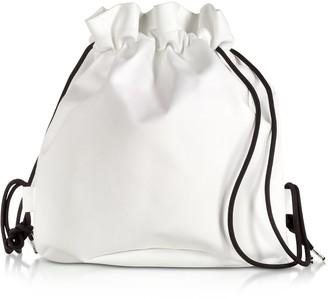 MM6 MAISON MARGIELA Mm6 Maison Martin Margiela White Drawstring Backpack W/ Metal Handle