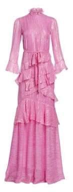 Saloni Marissa Tiered Ruffle Dress