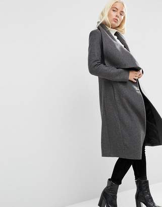 ASOS Waterfall Trapeze Coat in Wool Blend $136 thestylecure.com