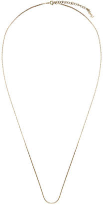 Saint Laurent Gold Small Chain Logo Clasp Necklace
