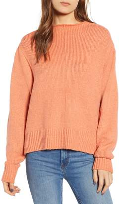 Leith Fuzzy Side Slit Sweater