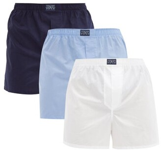Polo Ralph Lauren Set Of Three Cotton Boxer Briefs - Mens - Multi